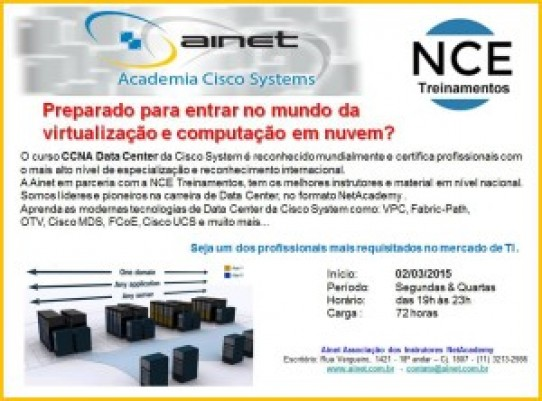 Novas Turmas CCNA Data Center Presencial